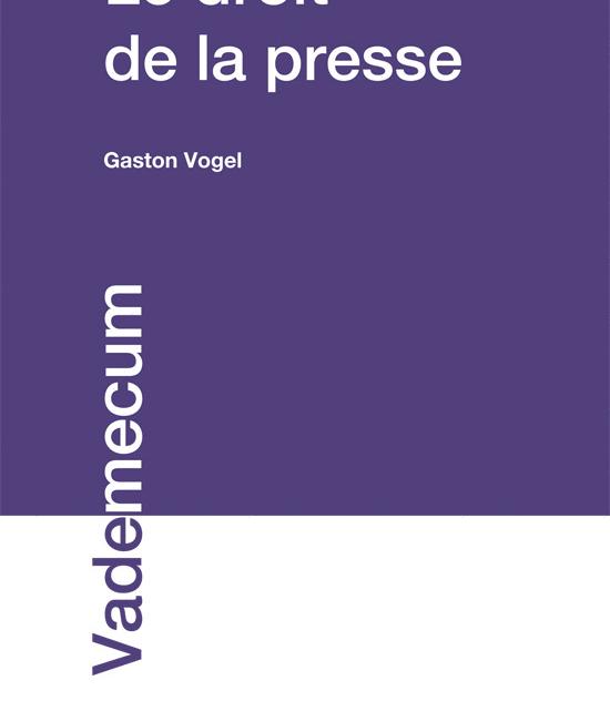 AVANT-PROPOS – Nouveau Droit de la Presse