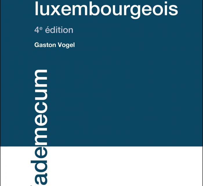 NOUVEAU – LE DIVORCE EN DROIT LUXEMBOURGEOIS édition 2020 – Gaston Vogel